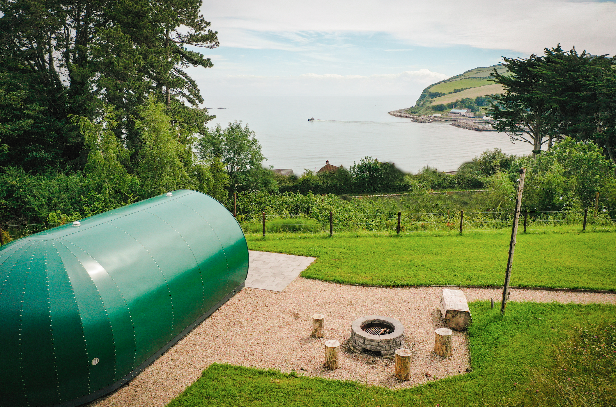 Glenarm castle pods view