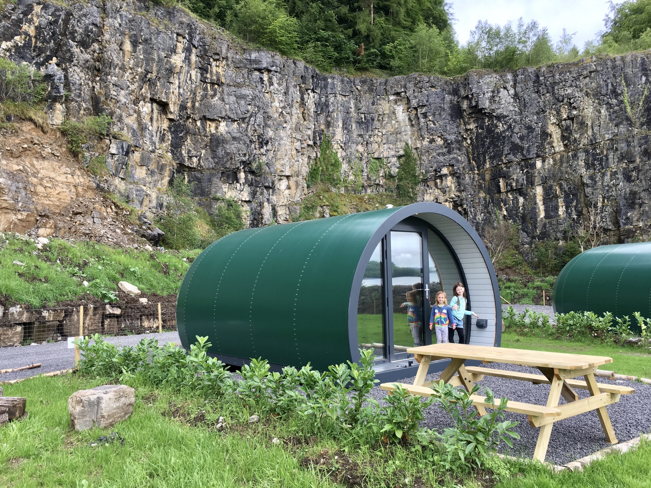 Lough Erne Camping pods outdoor area