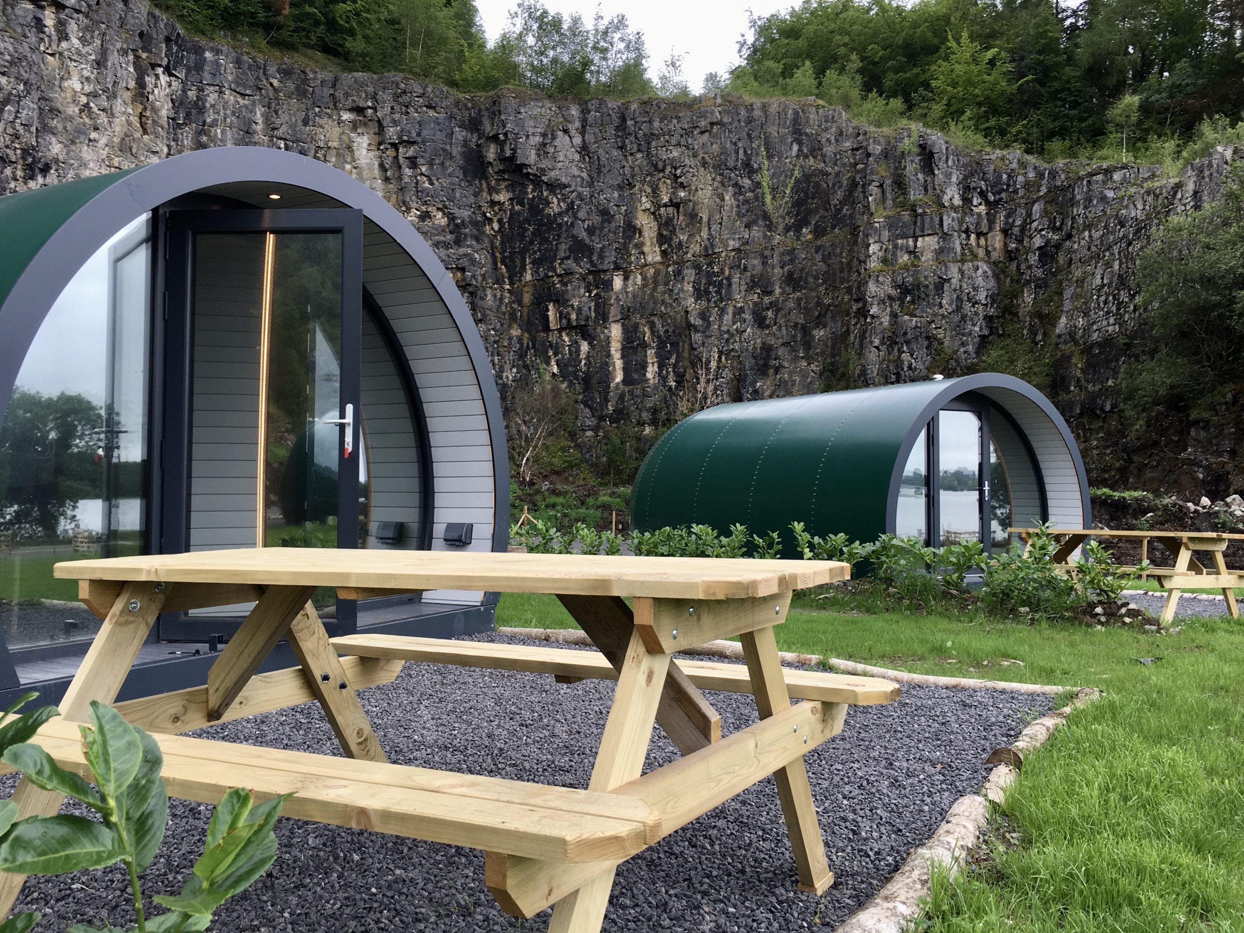 Enniskillen glamping pods outdoor area