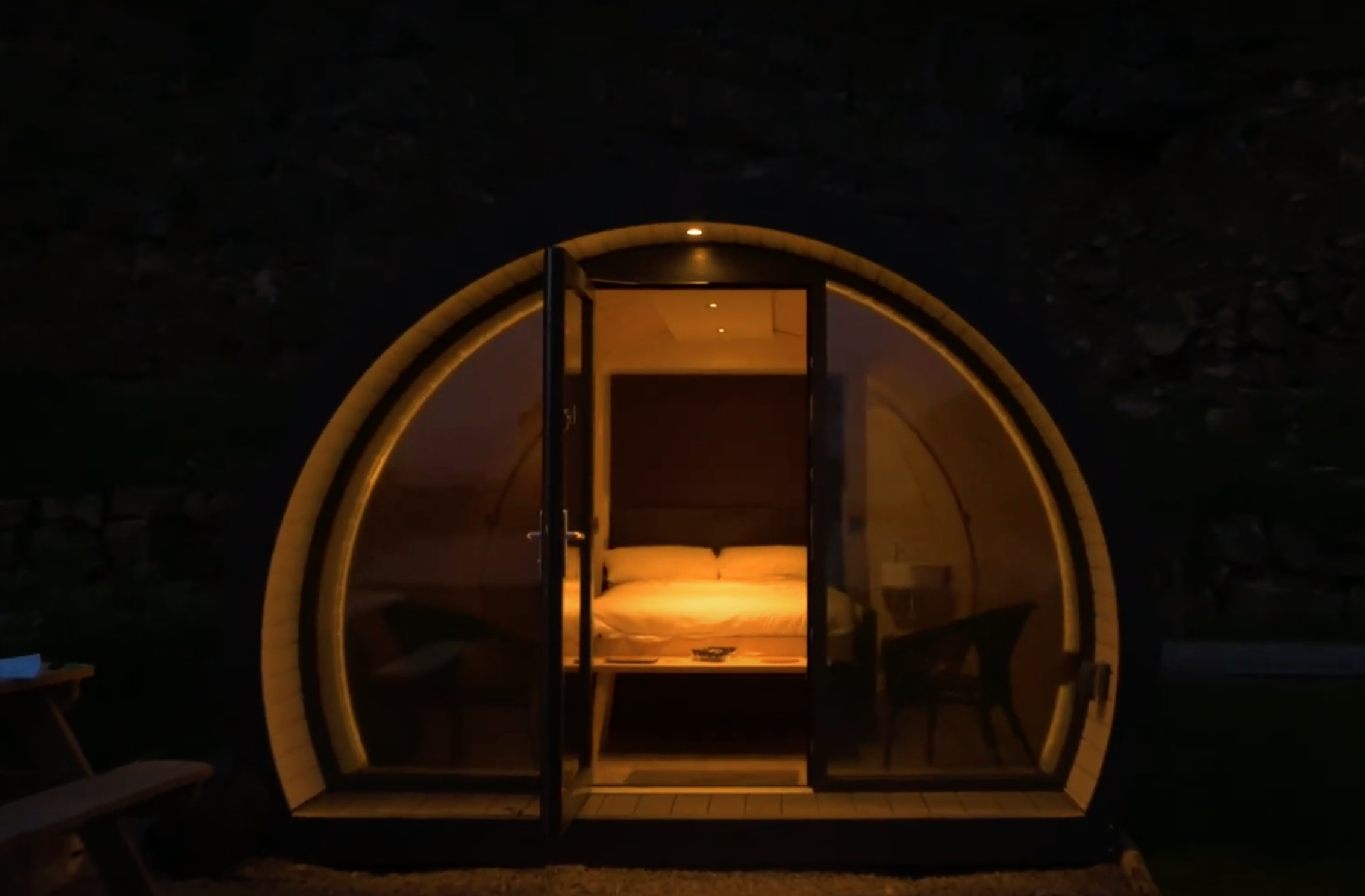Luxury Glamping Pods Enniskillen Night