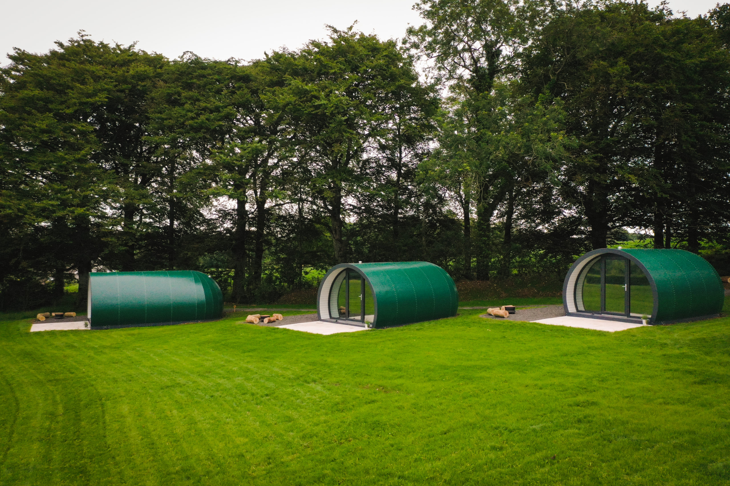 Thornfield glamping pods are the perfect option for accommodation near the dark hedges.