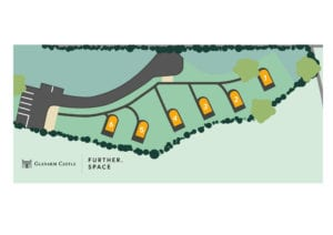 Glenarm Castle pods Site Map June 20