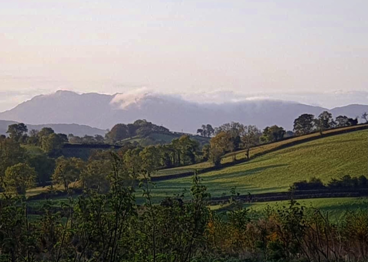 Glamping Mournes view example