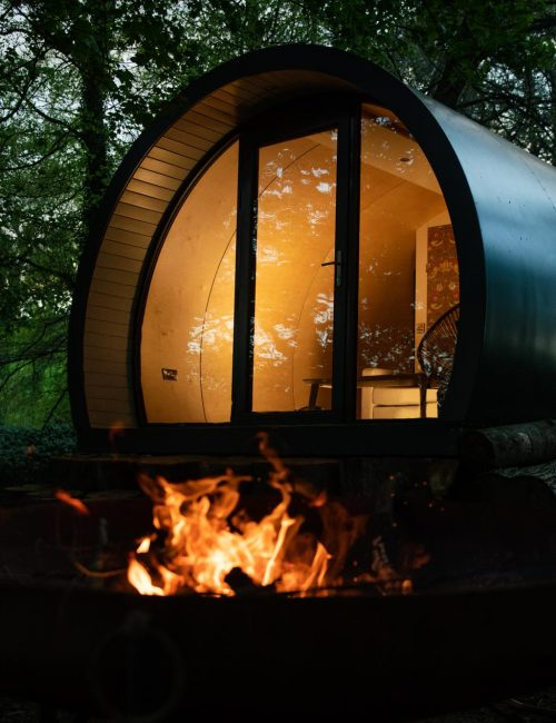 Exterior night pod glamping near giant's causeway
