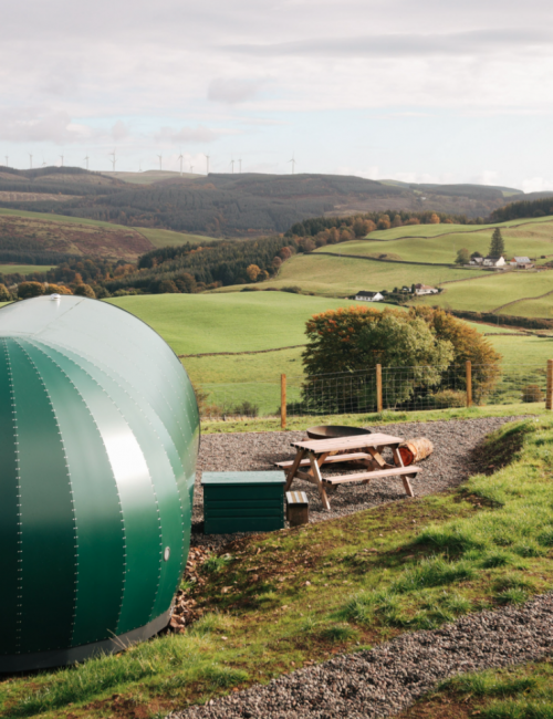 Glamping pods in the Scottish Highlands